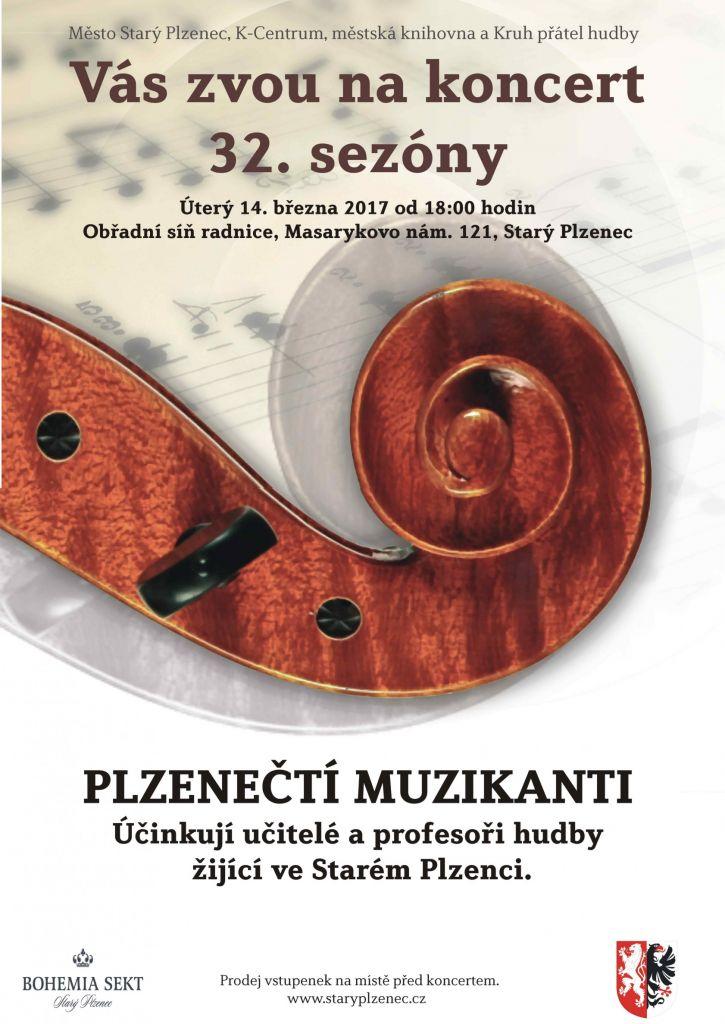 Koncert - Plzenečtí muzikanti plakát