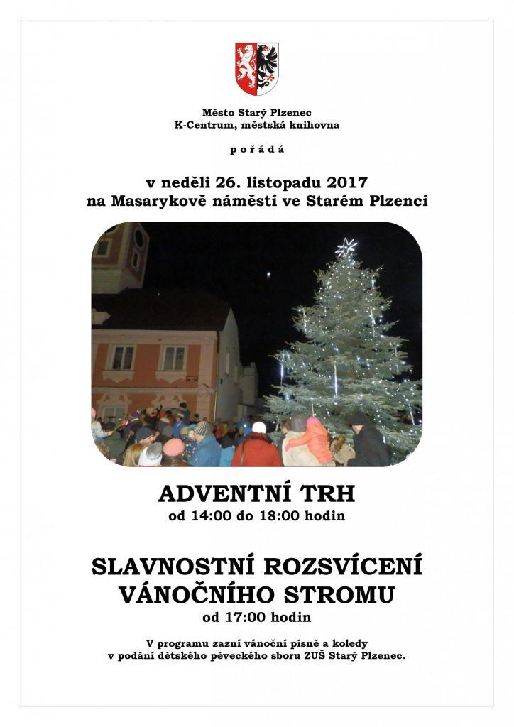 Adventní trh a rozsvícení vánočního stromu_plakát