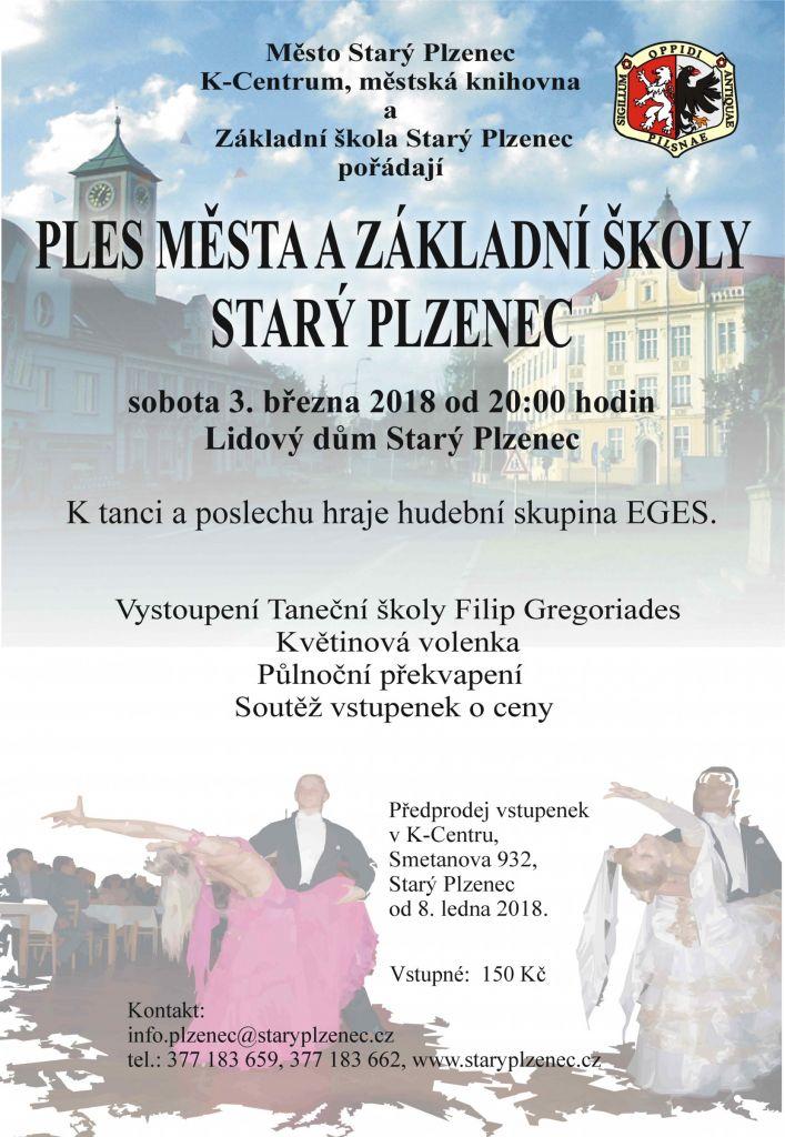 plakát Ples města a ZŠ St.Plzenec_2018