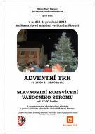 Adventní trh a rozsvícení vánočního stromečku