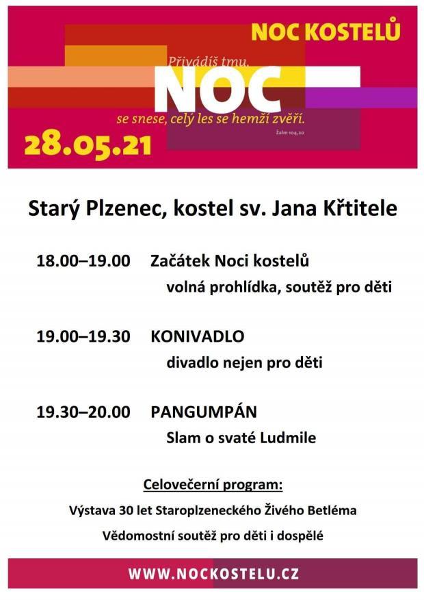 plakát Noc kostelů St.Plzenec _2021