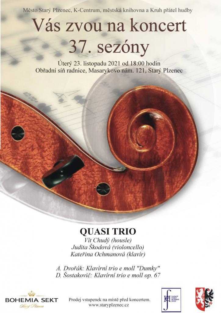 QUASI TRIO - 1. koncert 37. sezóny Kruhu přátel hudby 1